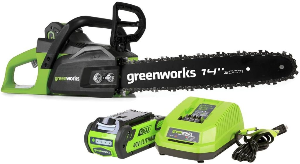 Best Cordless Chainsaw for the Money Greenworks G-MAX 40V 20312 Chainsaw