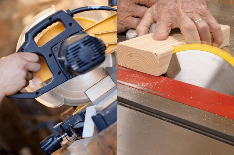 Miter Saw vs Table Saw Featured Photo