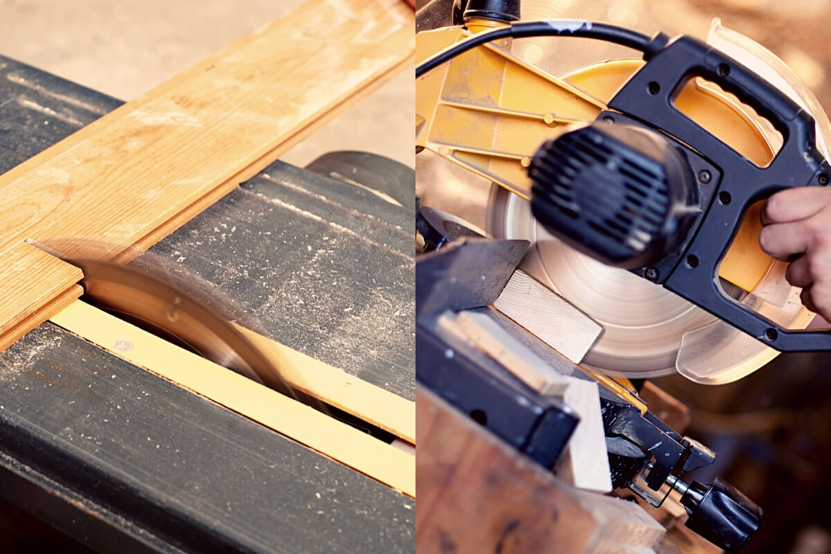 Table Saw vs Miter Saw Featured Image