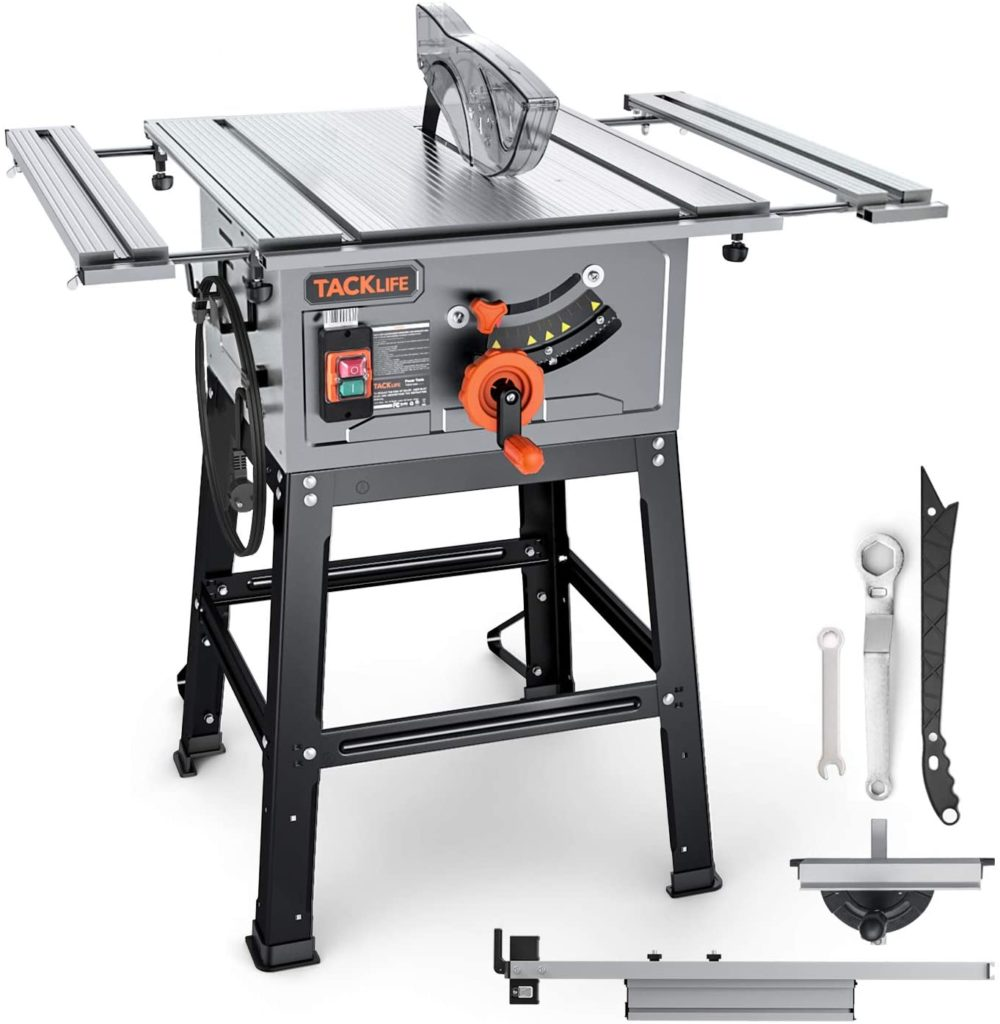 Best Budget Table Saw TACKLIFE TABLE SAW 10-Inch 15A