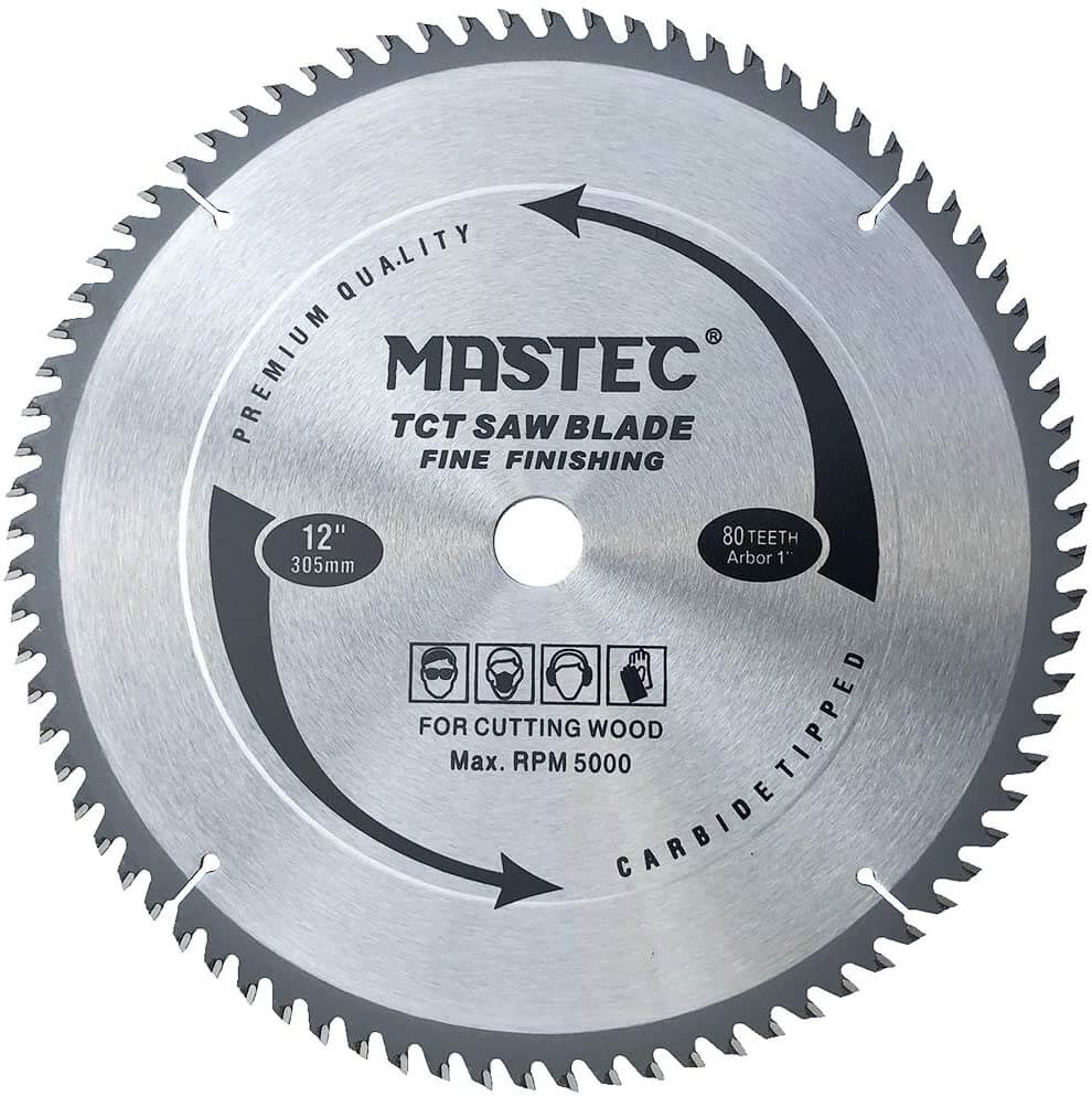 MASTEC 12 Inch 80 Tooth - Best Table Saw Blade for Ripping