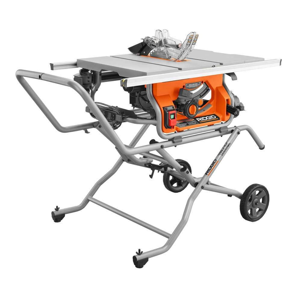 RIDGID R4514 - best value table saw for beginners