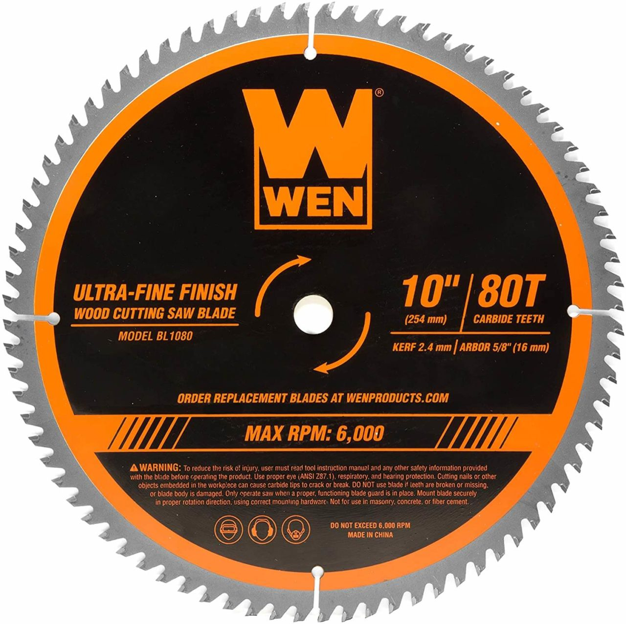 WEN BL1080 - Best Table Saw Blade for Ripping Oak