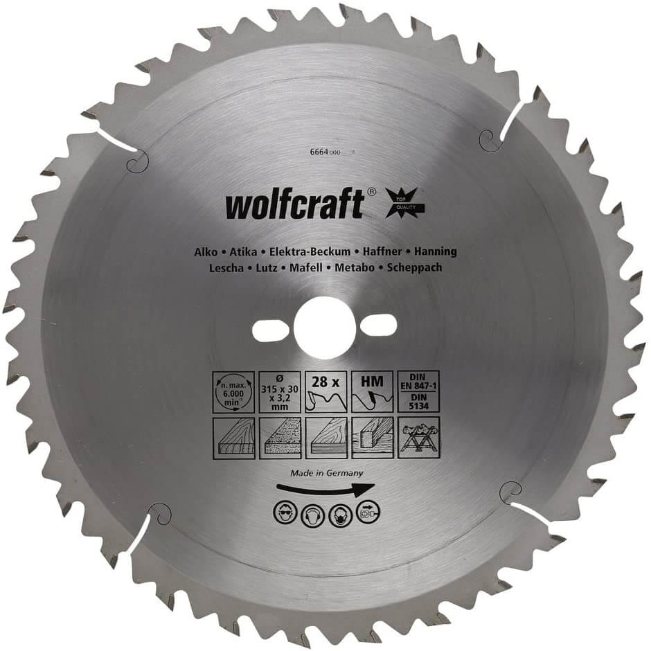 Wolfcraft 6668000 - Best Table Saw Blade for Plywood