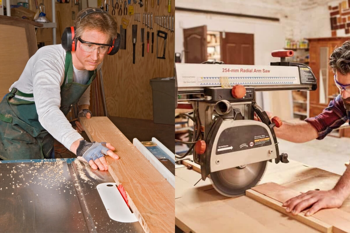 Table Saw VS Radial Arm Saw Featured Image
