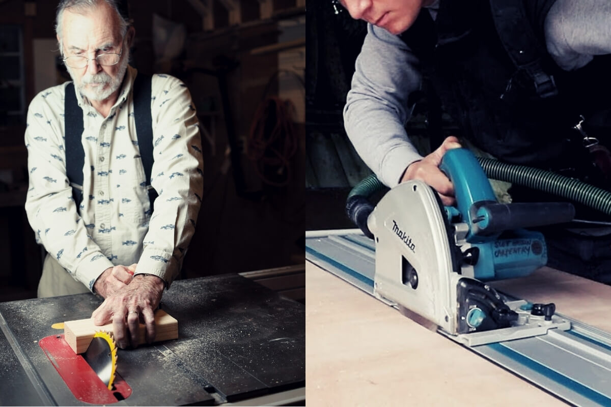 Table Saw vs Track Saw Featured Image