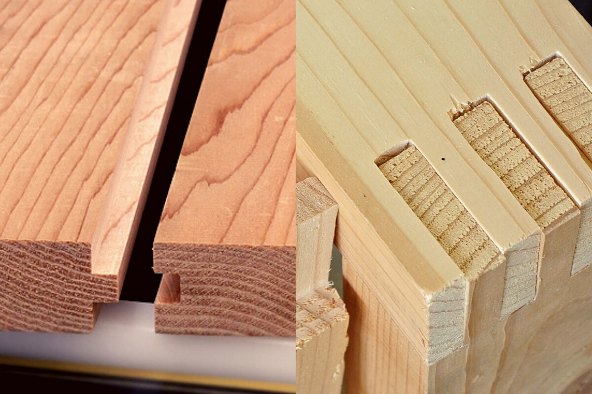 Tongue and Groove Joint vs Dovetail Joint