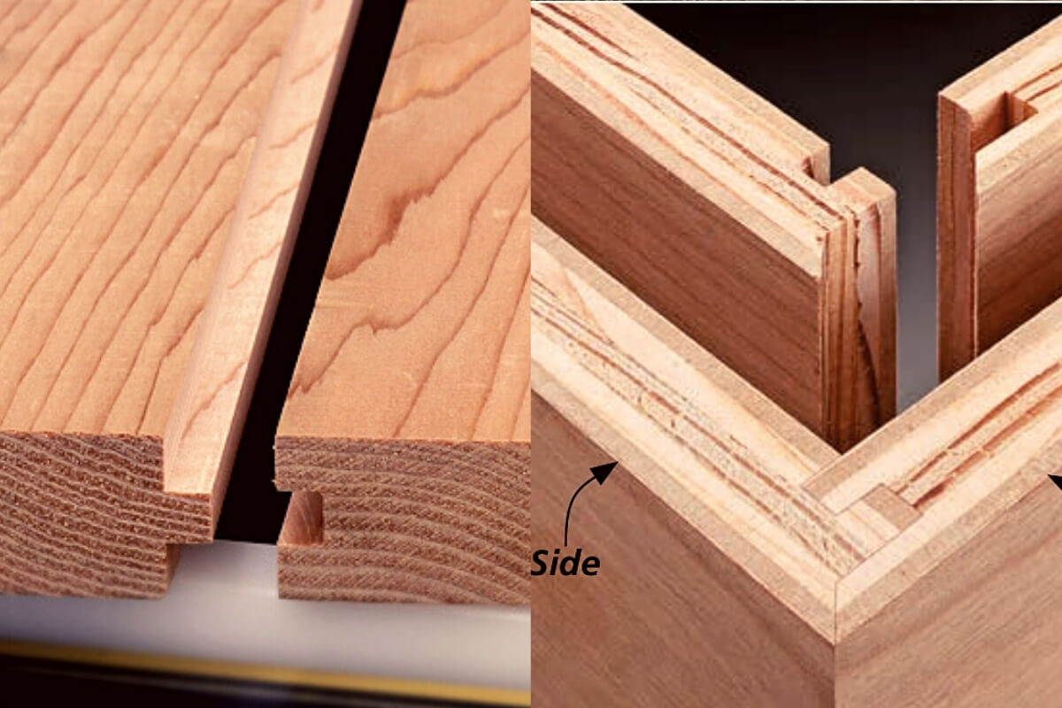 Tongue and Groove Joint vs Miter Joint